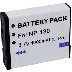 Náhradní baterie pro kamery Conrad Energy NP-130, 3,7 V, 1000 mAh