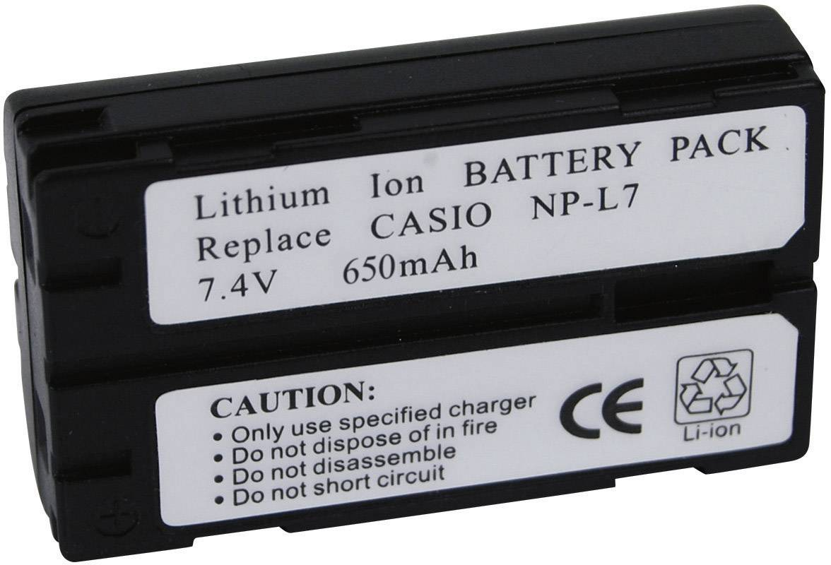 Akumulátor do kamery Conrad energy NP-L7 Casio NPL7, 650 mAh