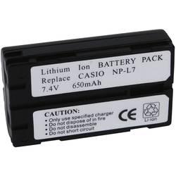 Náhradní baterie pro kamery Conrad Energy NP-L7, 7,4 V, 650 mAh