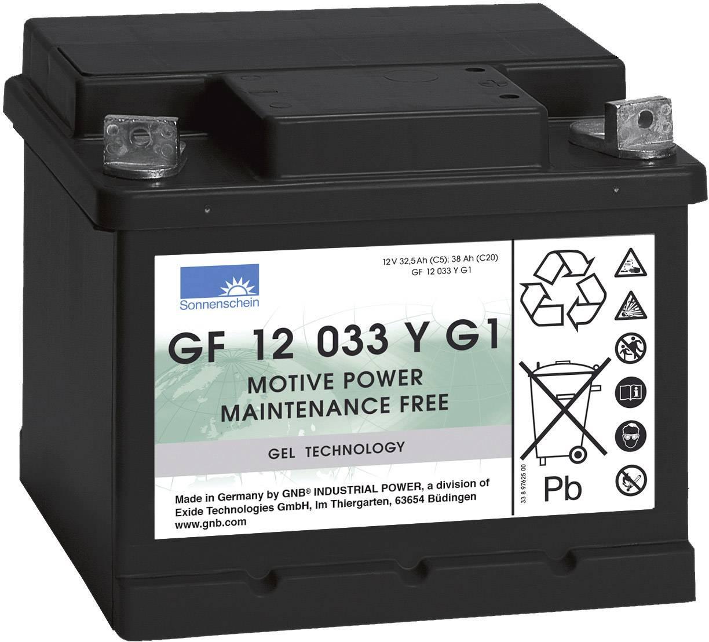 Gelový akumulátor, 12 V/32,5 Ah, Exide Sonnenschein GF-Y-G1 8889763200