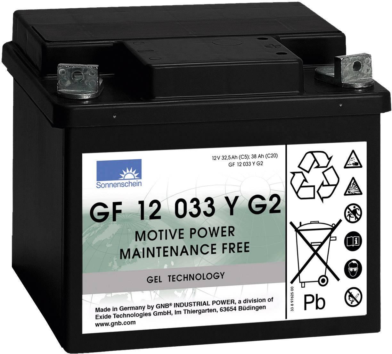 Gelový akumulátor, 12 V/32,5 Ah, Exide Sonnenschein GF-Y-G2 8889763300