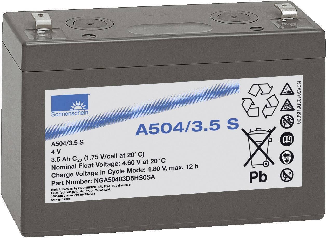 Olovený akumulátor GNB Sonnenschein A504/3,5 S NGA50403D5HS0SA, 3.5 Ah, 4 V