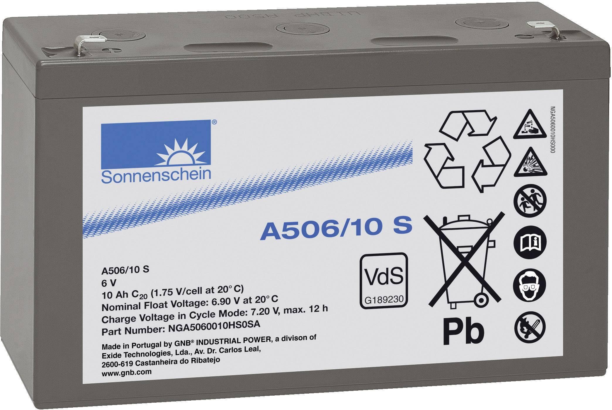 Gelový akumulátor, 6 V/10 Ah, Exide Sonnenschein NGA5060010HS0SA
