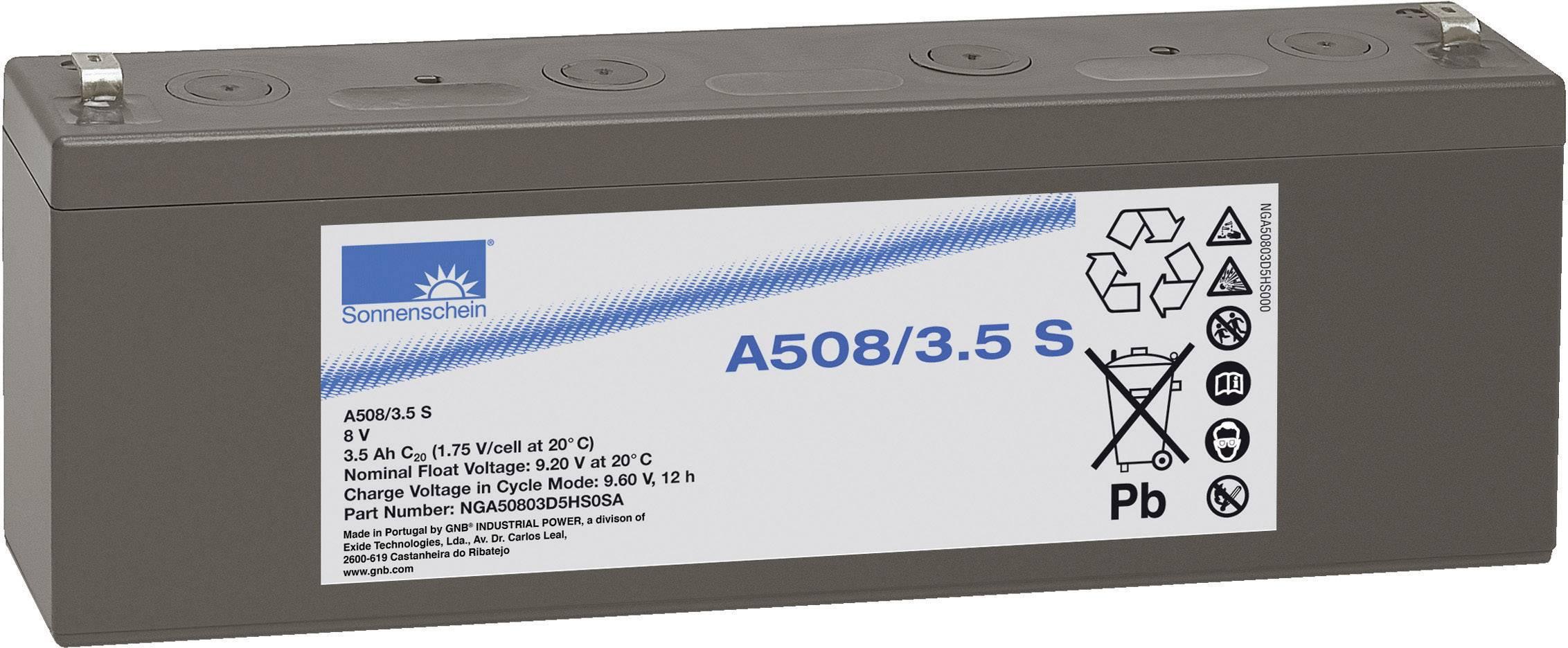 Gelový akumulátor, 8 V/3,5 Ah, Exide Sonnenschein NGA50803D5HS0SA