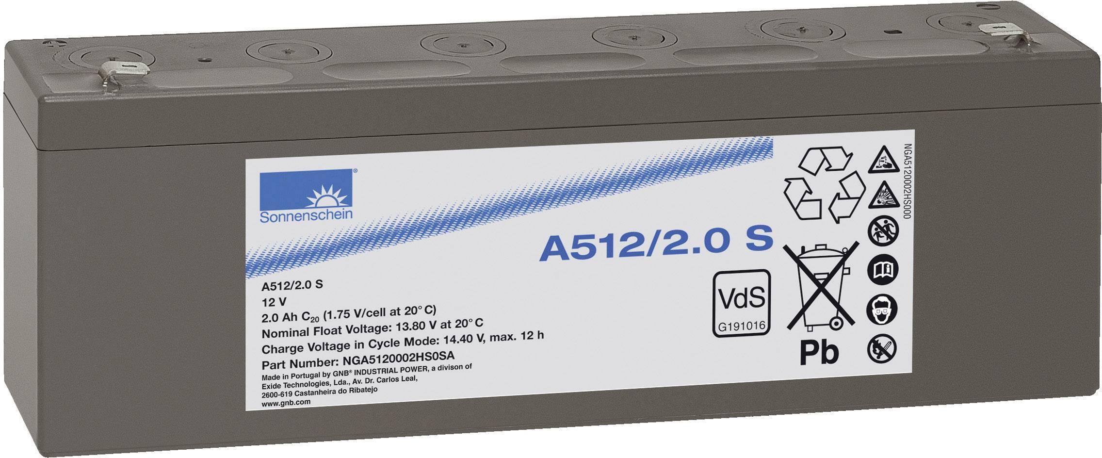 Olovený akumulátor GNB Sonnenschein A512/2 S NGA5120002HS0SA, 2 Ah, 12 V