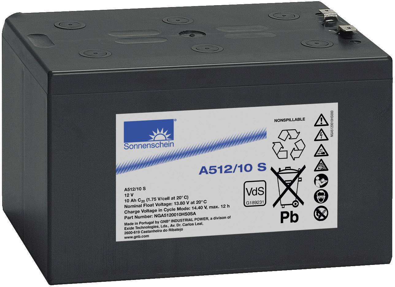 Gelový akumulátor, 12 V/10 Ah,Exide Sonnenschein NGA5120010HS0SA