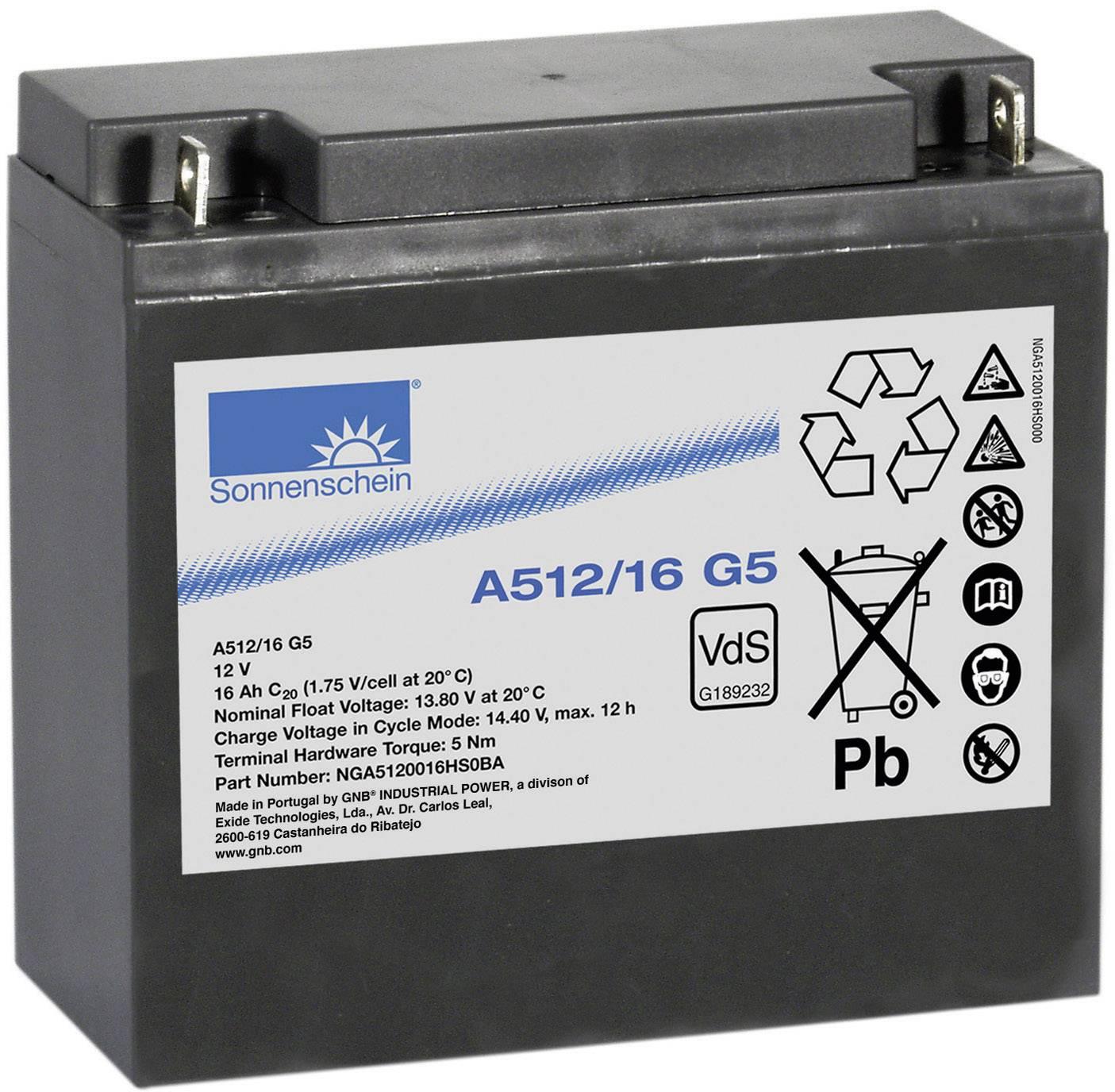 Olovený akumulátor GNB Sonnenschein A512/16 G5 NGA5120016HS0BA, 16 Ah, 12 V