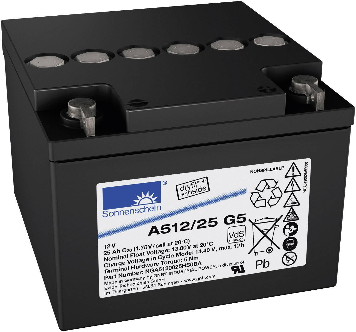 Olovený akumulátor GNB Sonnenschein A512/25 G5 NGA5120025HS0BA, 25 Ah, 12 V