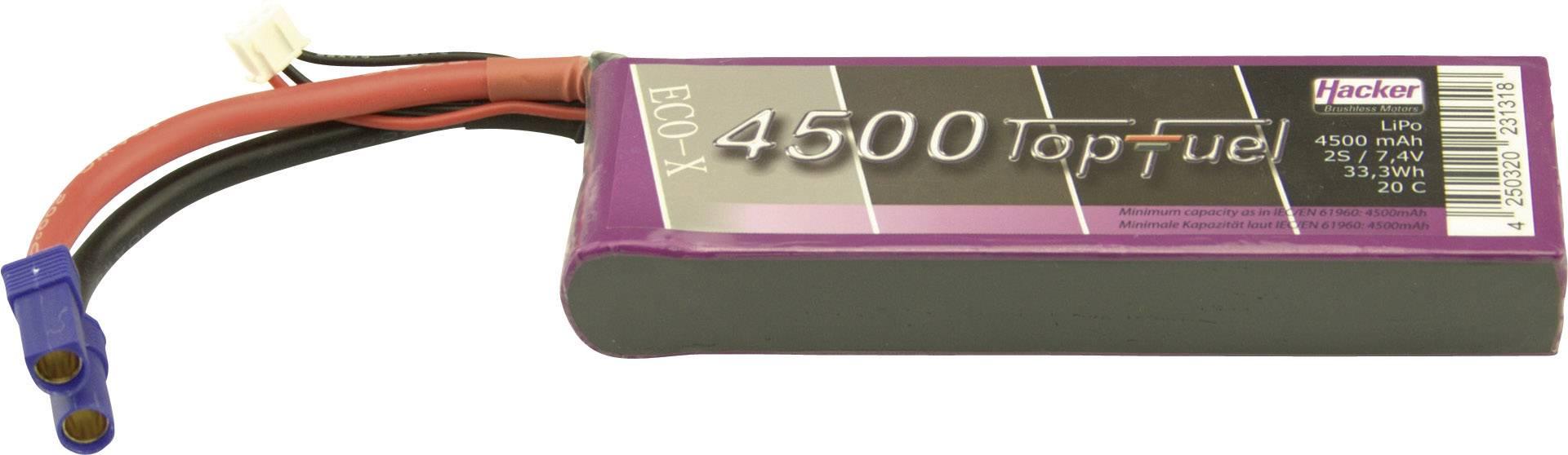 Akupack Li-Pol Hacker 34500231, 7.4 V, 4500 mAh