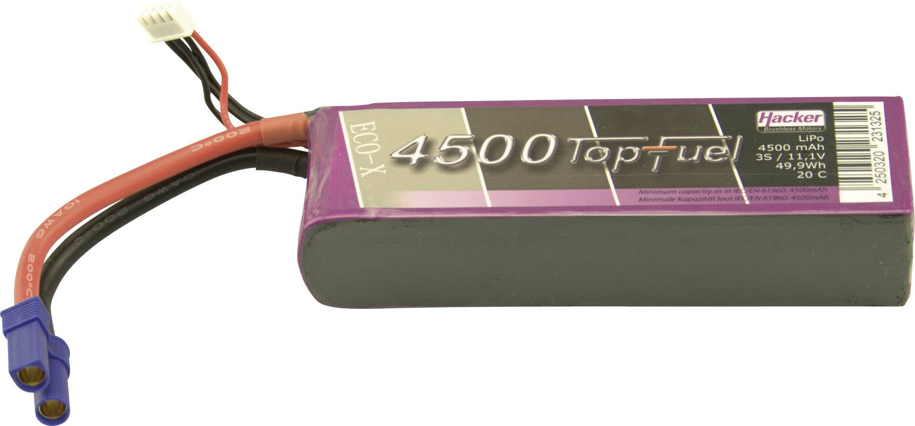 Akupack Li-Pol Hacker 34500331, 11.1 V, 4500 mAh