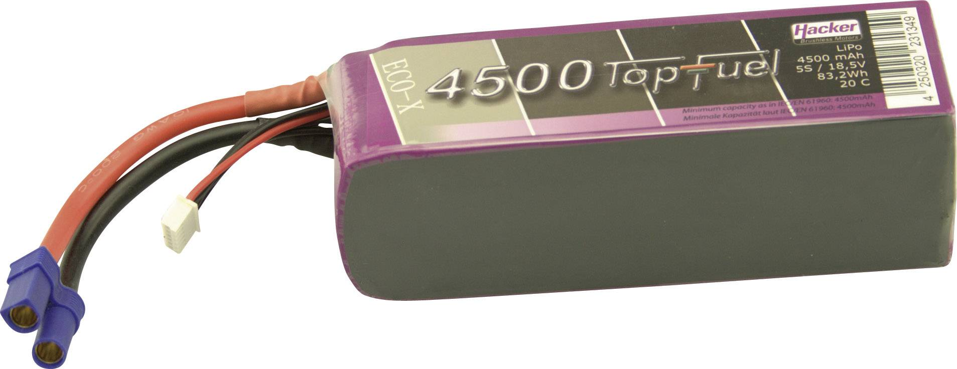 Akupack Li-Pol Hacker 34500531, 18.5 V, 4500 mAh