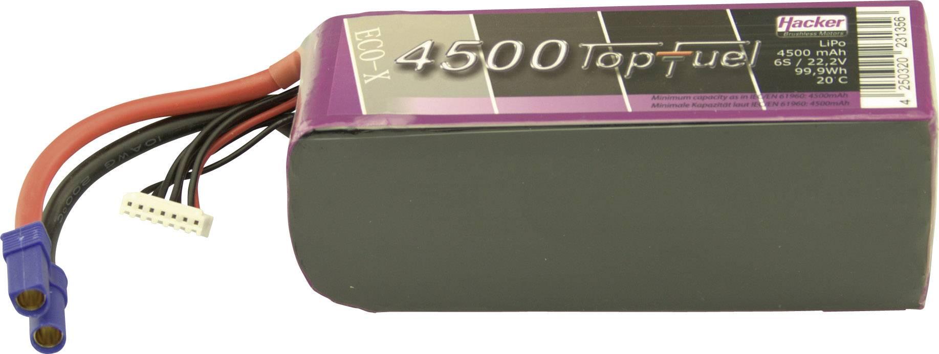 Akupack Li-Pol Hacker 34500631, 22.2 V, 4500 mAh