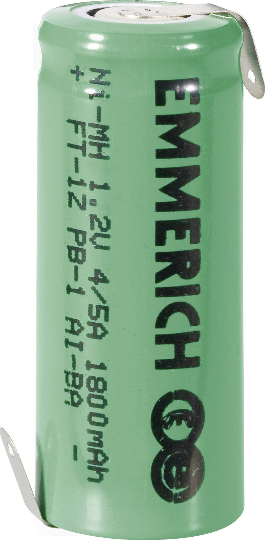 Emmerich NiMH-akumulátory so Z spájkovacími očkami 4/5 A 1800 mAh, FT-1Z