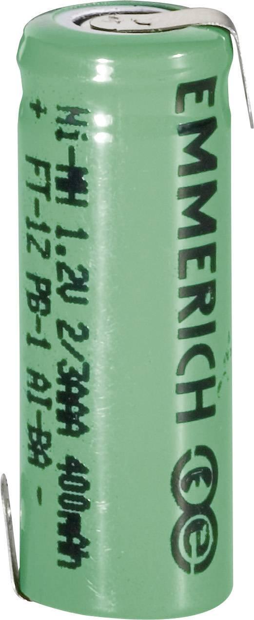 Emmerich NiMH-akumulátory so Z spájkovacími očkami 2/3 AAA 400 mAh, FT-1Z