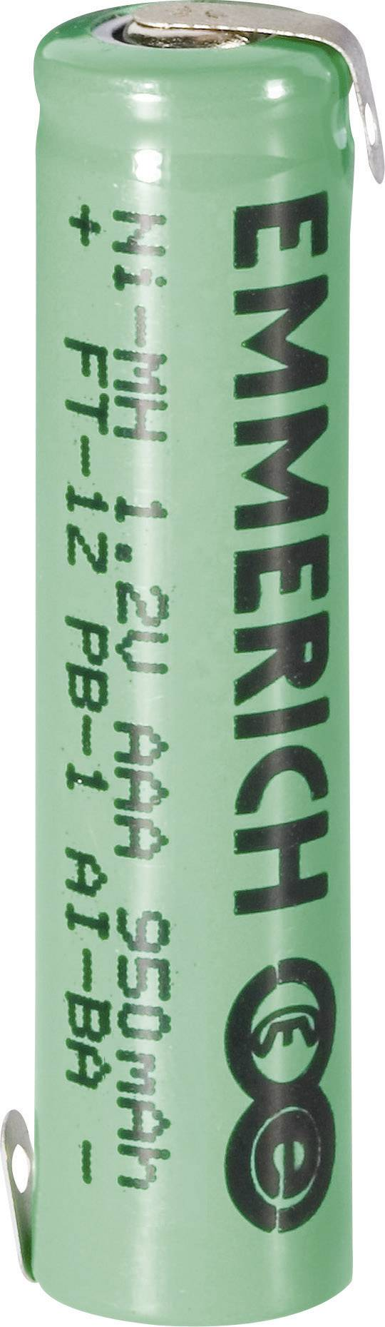 Emmerich NiMH-akumulátory so Z spájkovacími očkami AAA 950 mAh, FT-1Z