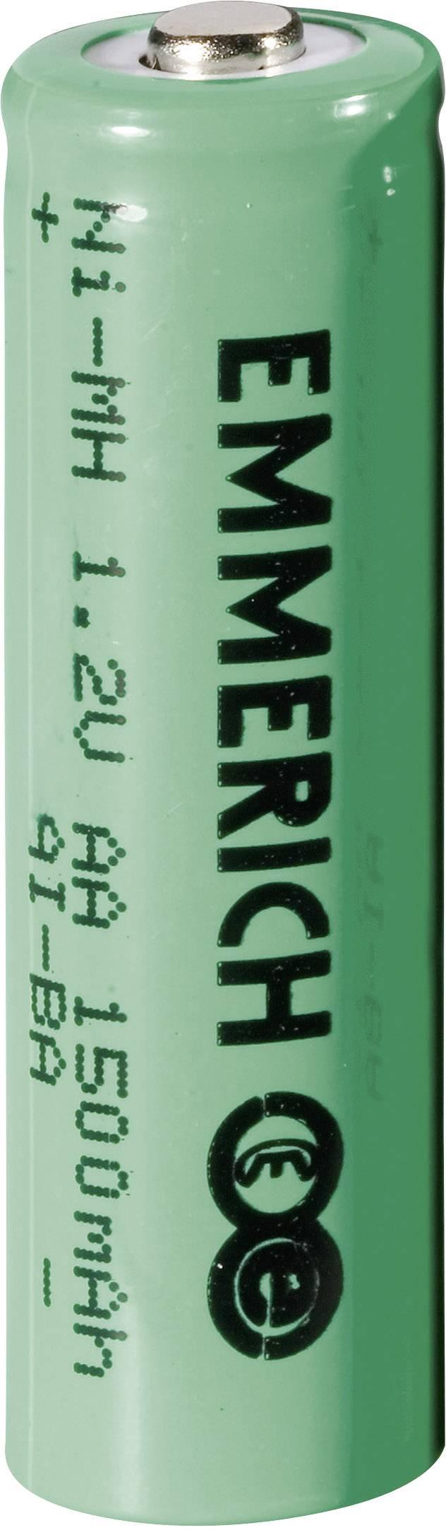 Tužkový akumulátor typu AA NiMH Emmerich HR06 255024, 1500 mAh, 1.2 V, 1 ks