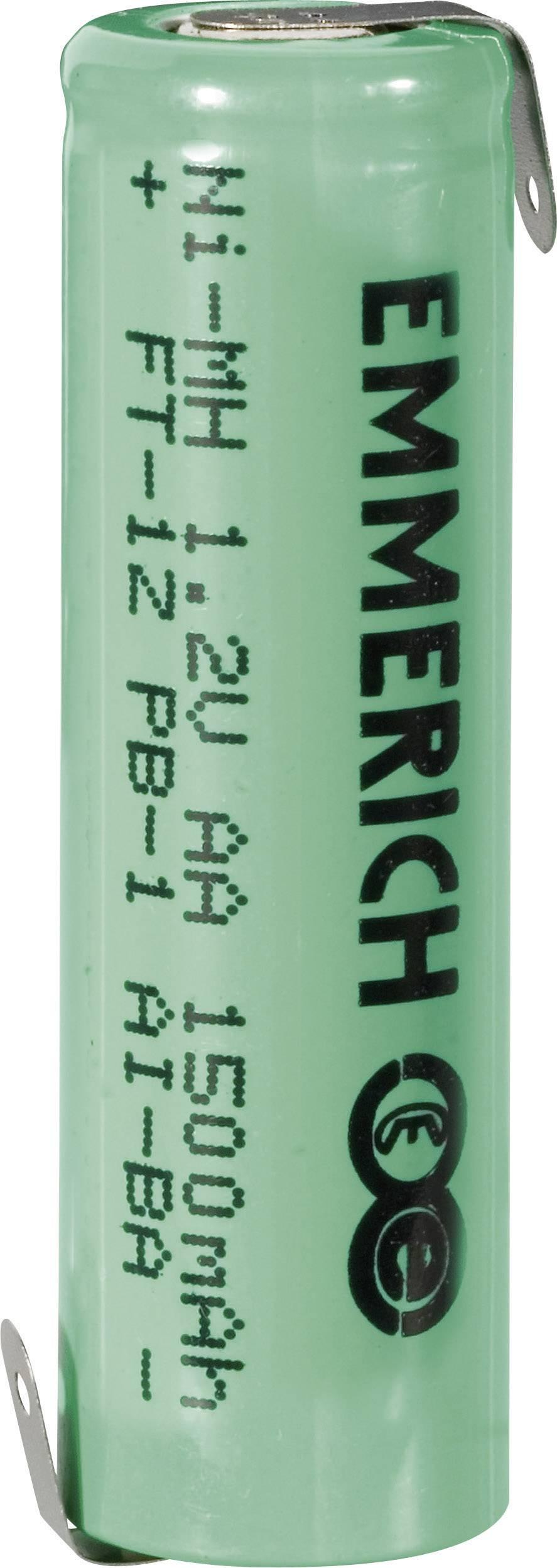 Emmerich NiMH-akumulátory so Z spájkovacími očkami AA 1500 mAh, FT-1Z