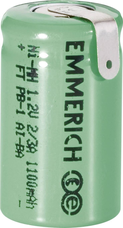 Emmerich NiMH-akumulátory so Z spájkovacími očkami 2/3 1100 mAh, FT-1Z