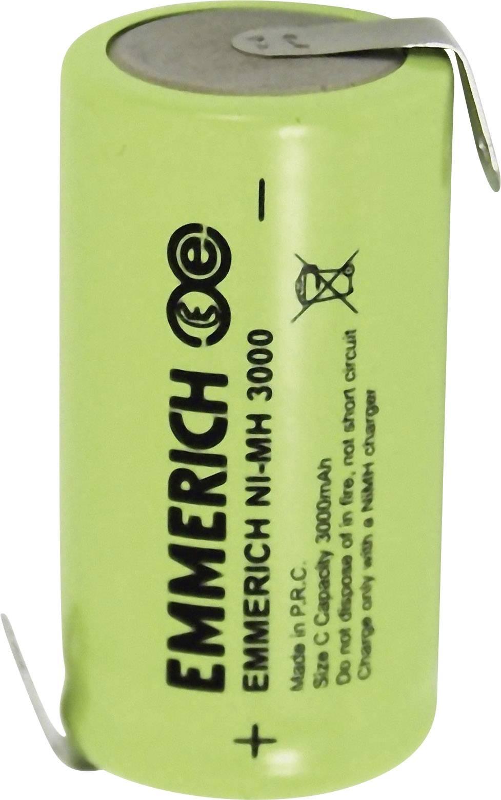 Emmerich NiMH-akumulátory so Z spájkovacími očkami C 3000 MAH FT-1Z