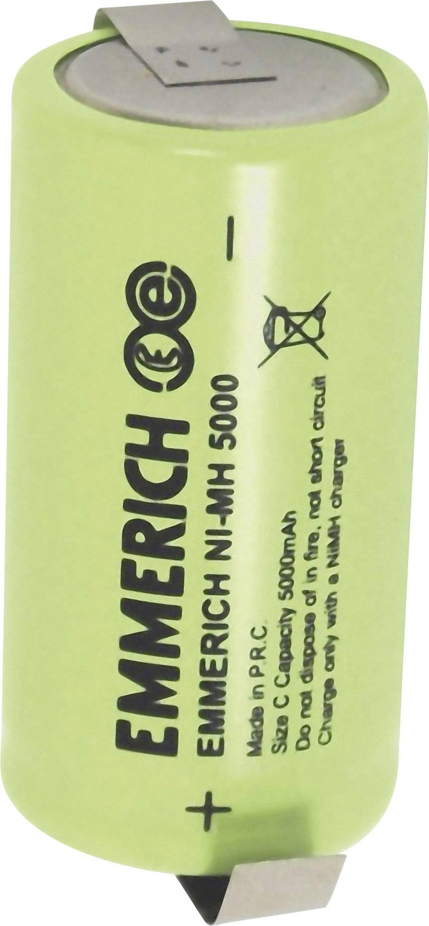 Emmerich NiMH-akumulátory so Z spájkovacími očkami C 5000 MAH FT-1Z
