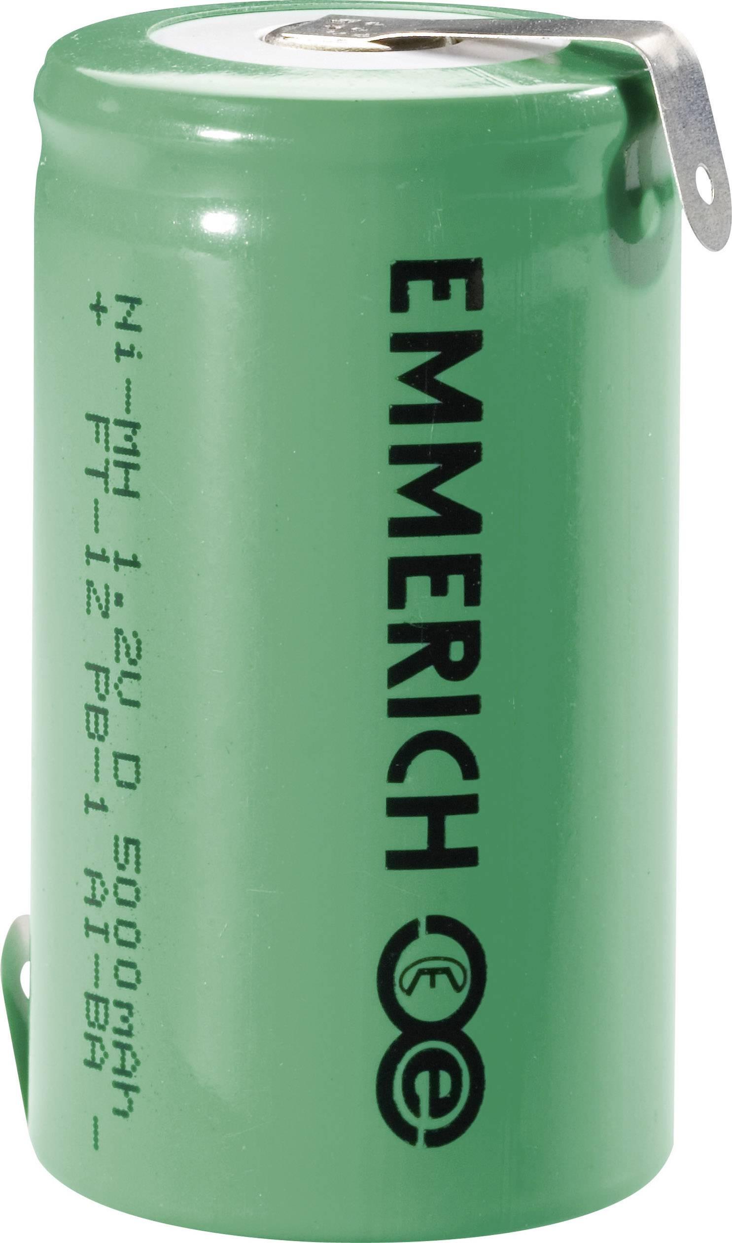 Emmerich NiMH-akumulátory so Z spájkovacími očkami D 5000 MAH FT-1Z