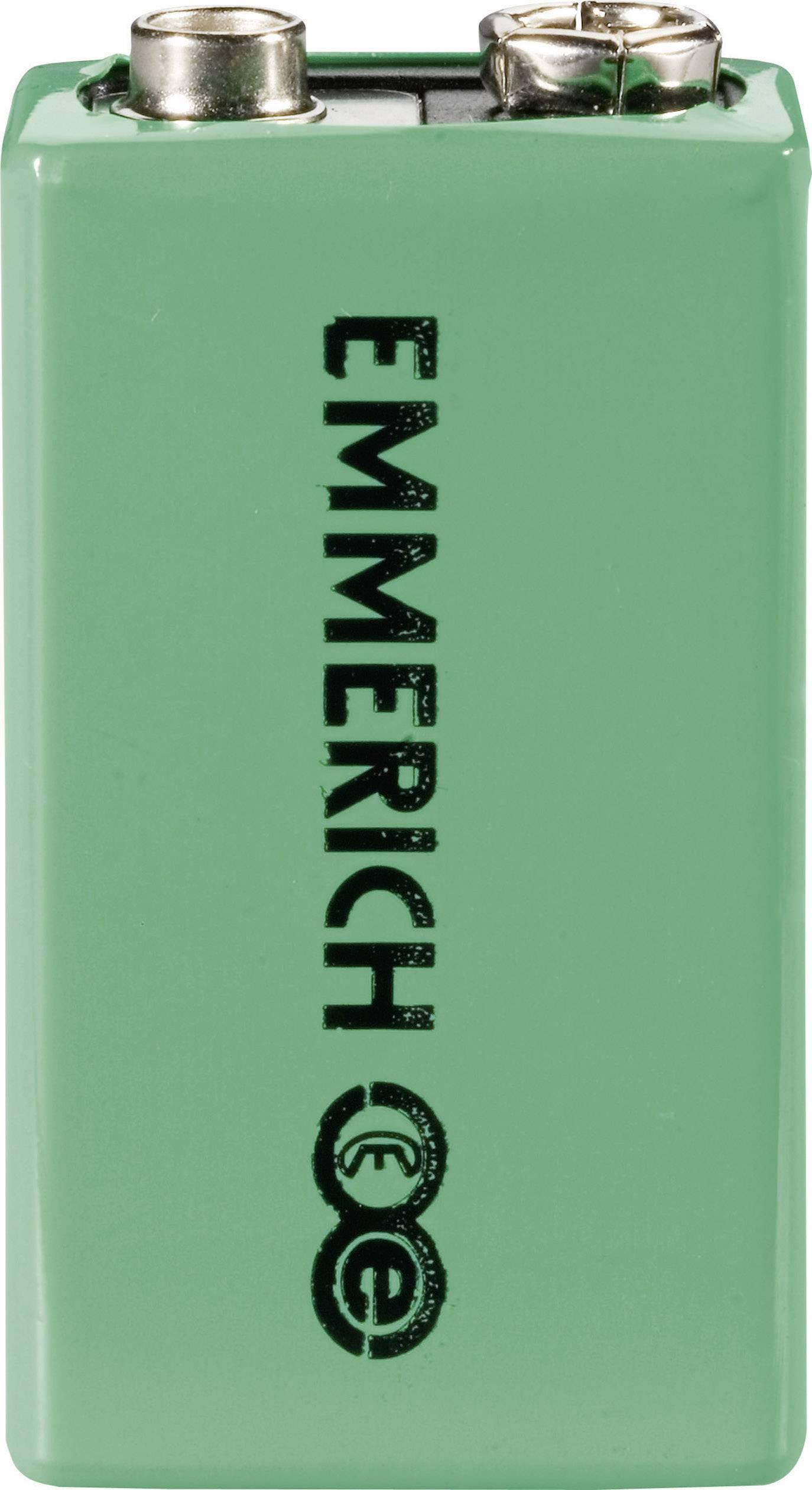 9 V akumulátor NiMH Emmerich 6LR61 255049, 160 mAh, 8.4 V, 1 ks
