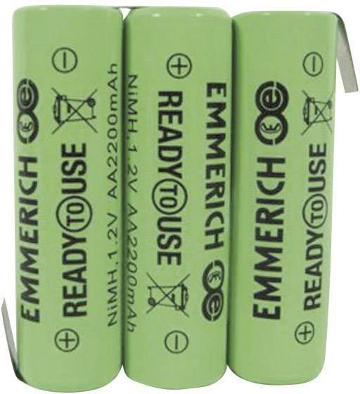 Akupack - sada nabíjacích batérií NiMH 3 mignon (AA) Emmerich ReadyToUse 3AA-ZLF 255066, 2200 mAh, 3.6 V
