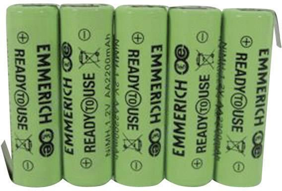 Akupack - sada nabíjacích batérií NiMH 5 mignon (AA) Emmerich ReadyToUse 5AA-ZLF 255070, 2200 mAh, 6 V