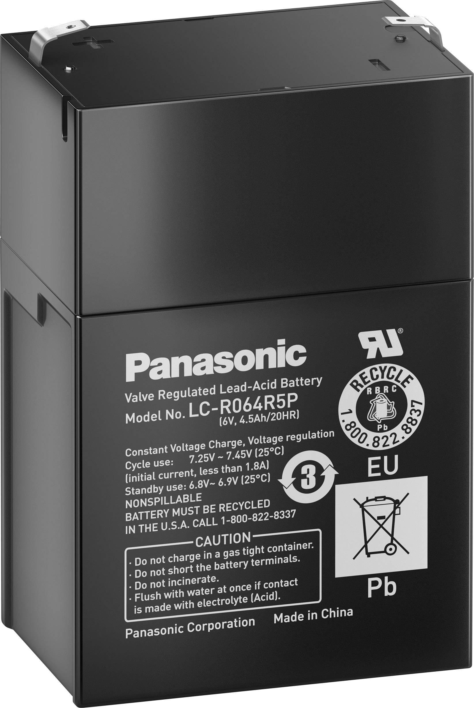 Olověný akumulátor, 6 V/4 Ah, Panasonic LC-RB064PG