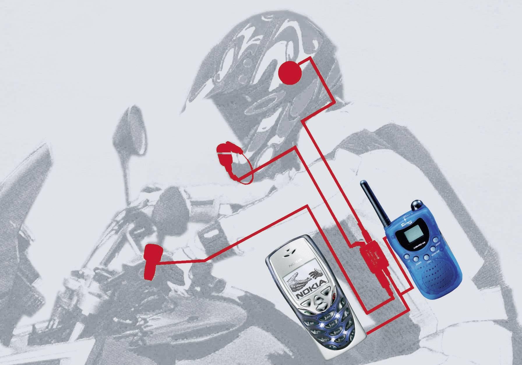Headset s mikrofónom pre motorkárov IMC HS 100