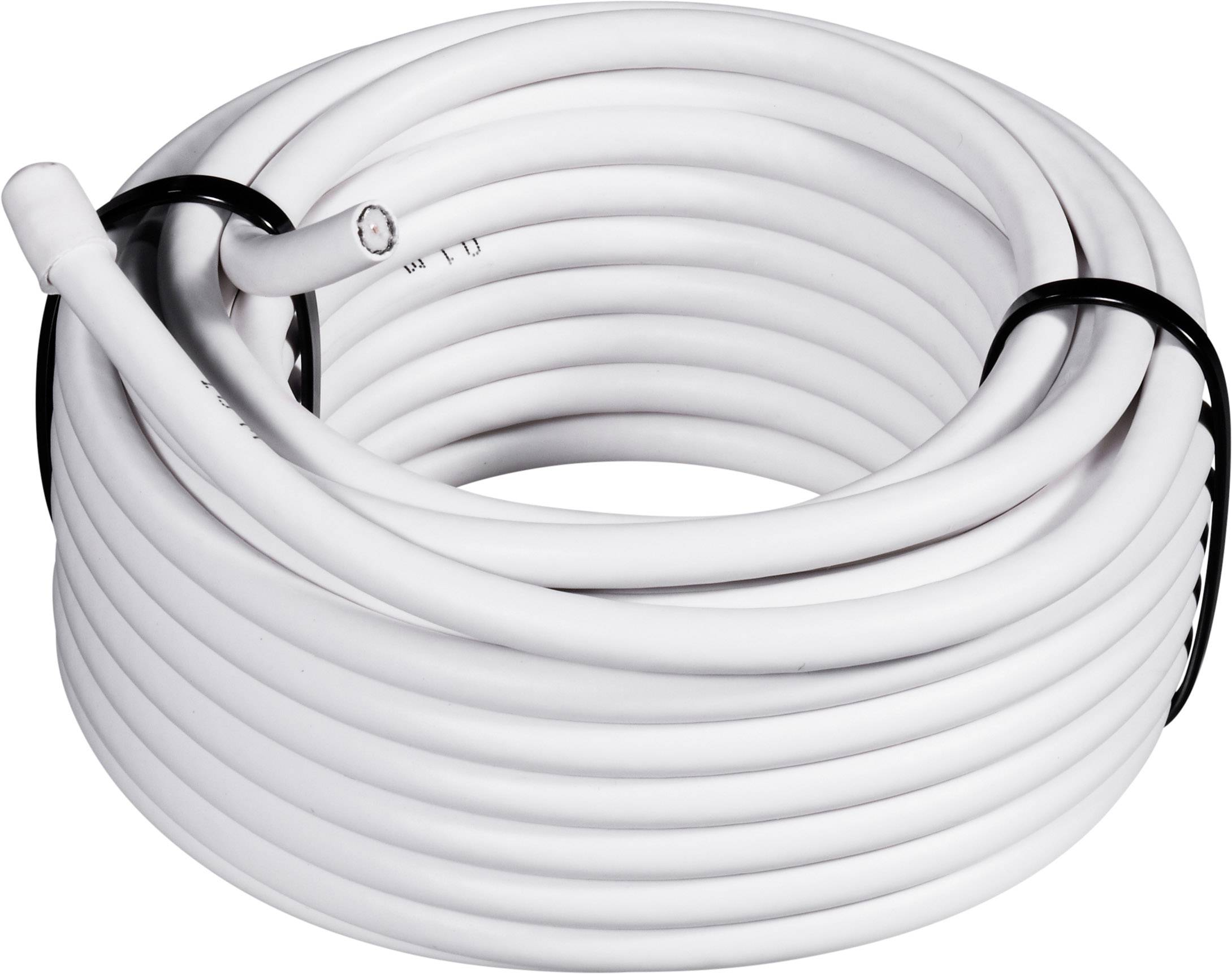 Koaxiální kabel Conrad 1511002/10, stíněný, bílá, 10 m