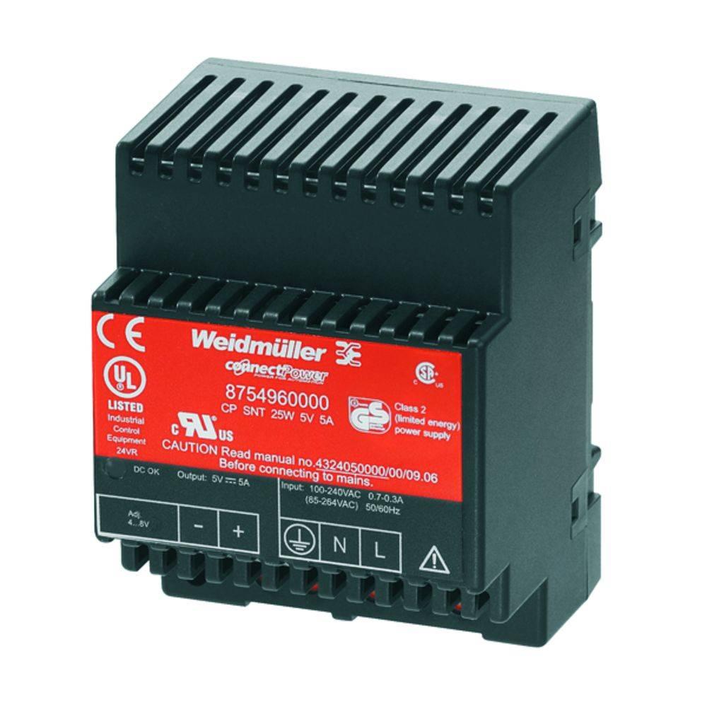 Síťový zdroj na DIN lištu Weidmüller CP SNT 25W 5V 5A, 1 x, 5 V/DC, 5 A, 25 W