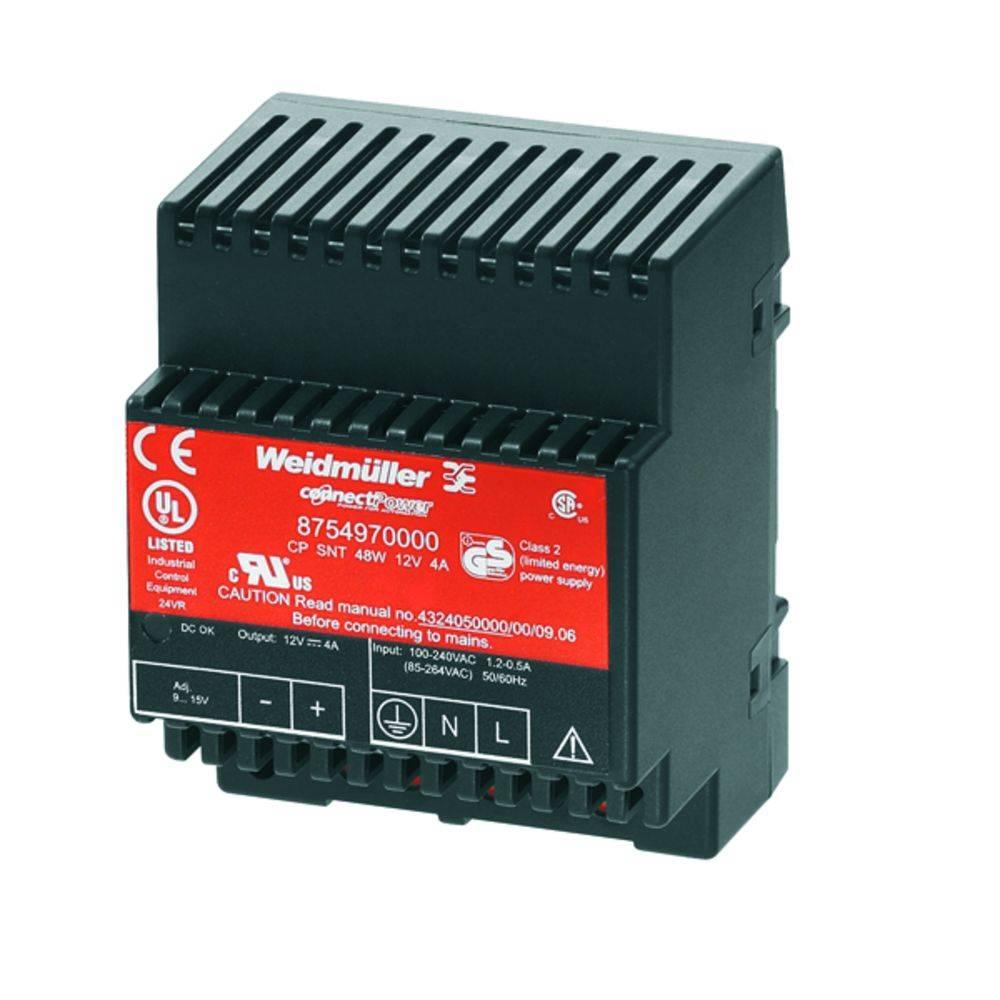 Síťový zdroj na DIN lištu Weidmüller CP SNT 48W 12V 4A, 1 x, 12 V/DC, 4 A, 48 W