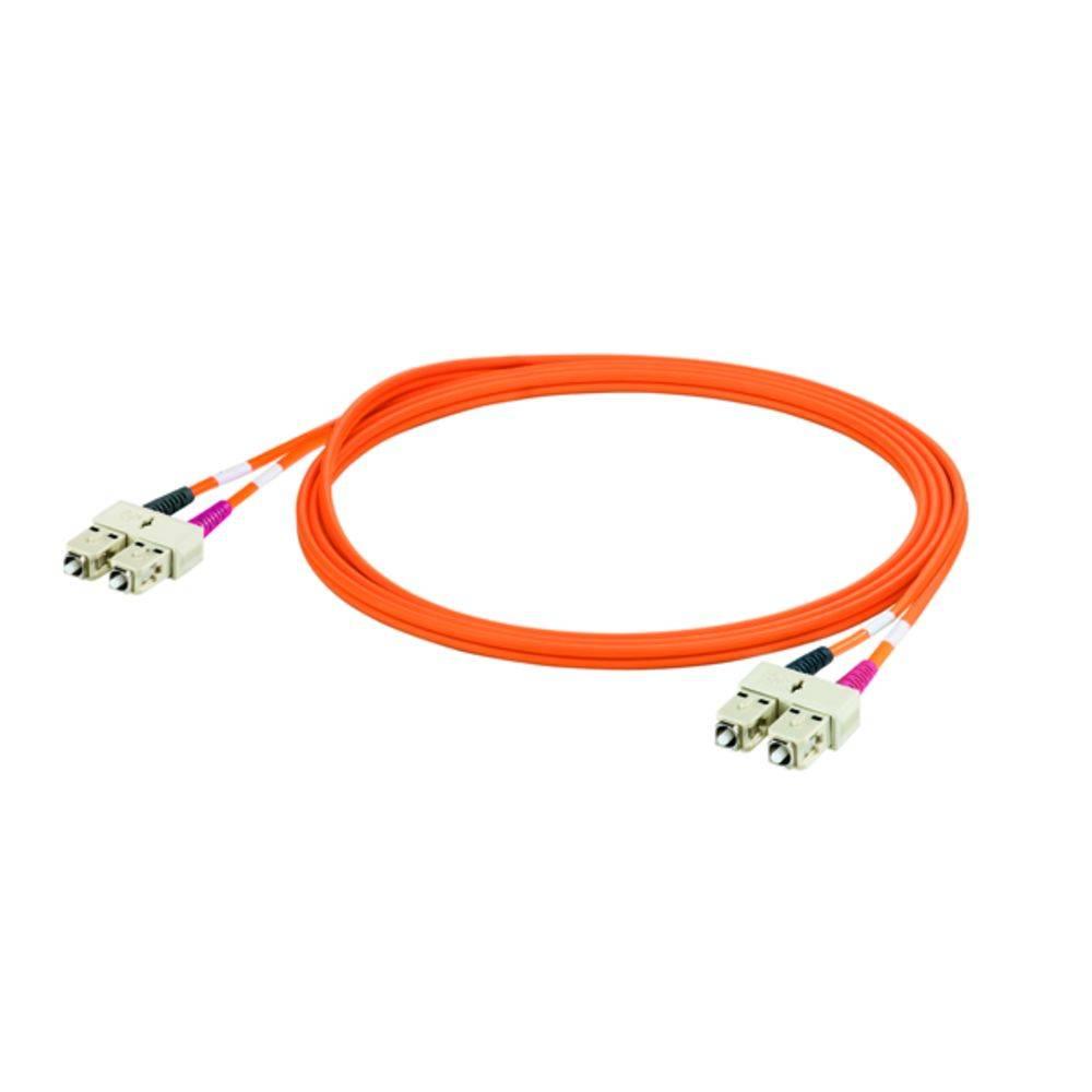 Optické vlákno kabel Weidmüller 8813350000 [1x zástrčka SC - 1x zástrčka SC], 3 m, oranžová