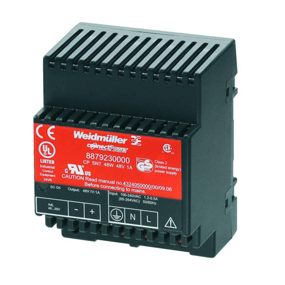 Síťový zdroj na DIN lištu Weidmüller CP SNT 48W 48V 1A, 1 x, 48 V/DC, 1 A, 48 W