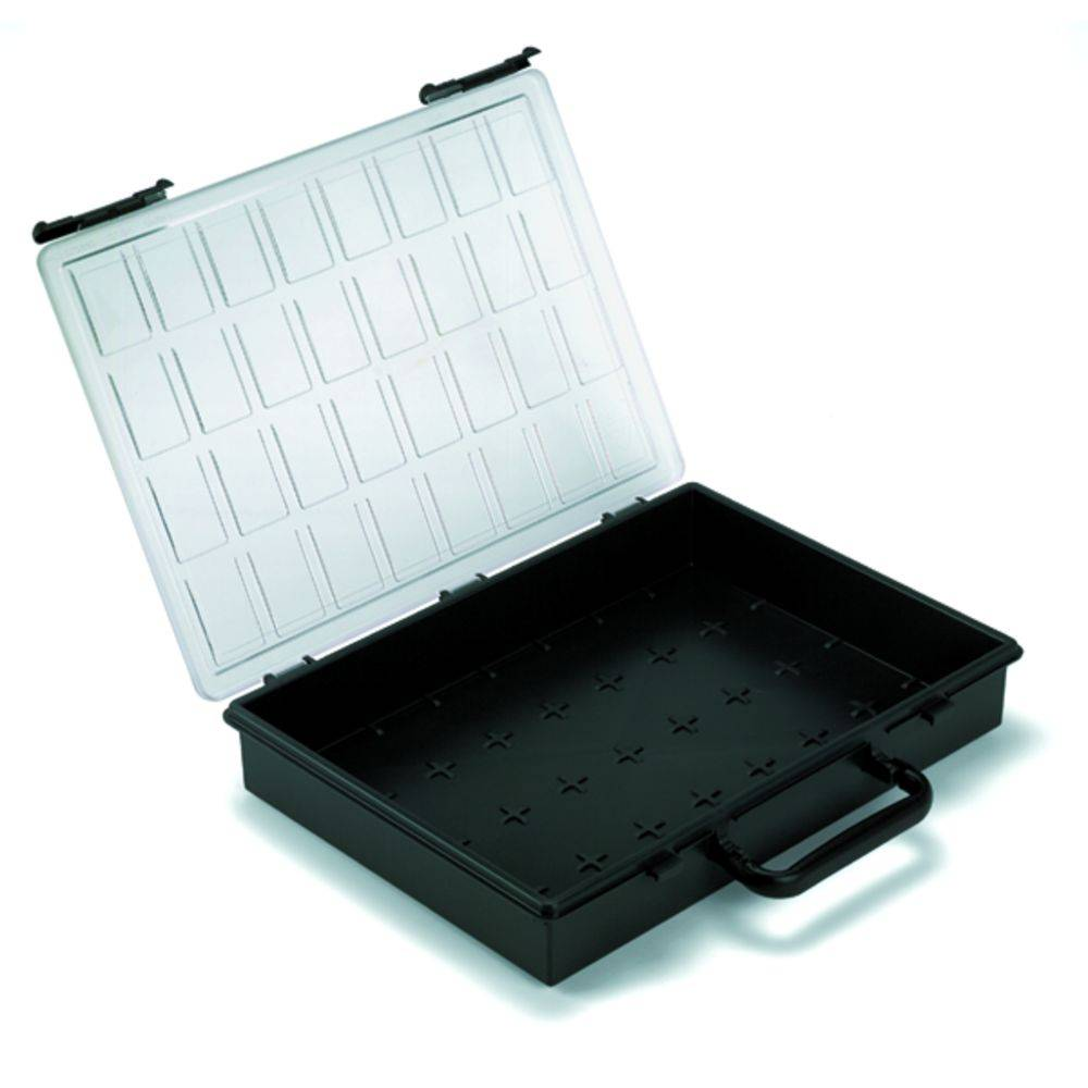 Kufřík na součástky Weidmüller, PSC4-01, 9028860000, přihrádek: 1, 261 x 338 x 56 , černá
