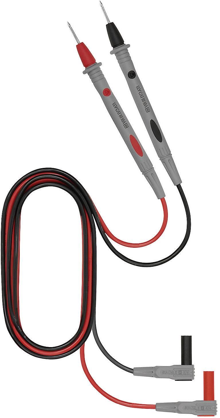 Sada bezpečnostných meracích vodičov Weidmüller 125S_2606, 1 m, čierna, červená