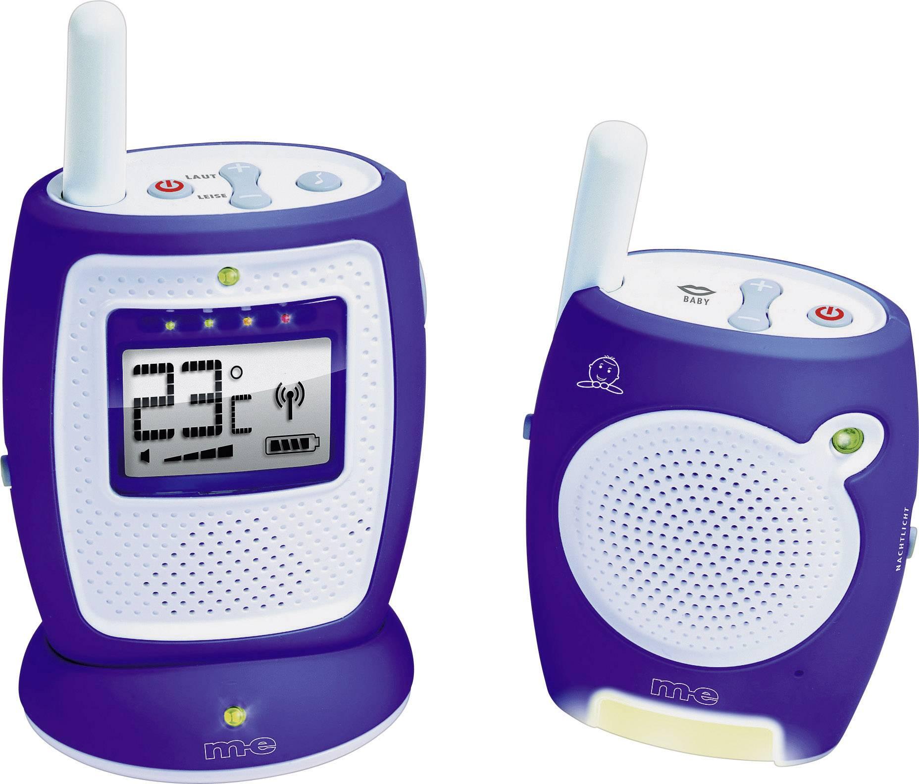 S digitálnym prenosom elektronická detská opatrovateľka m-e modern-electronics 10604 Funk-Babyphone DBS 5, 2.4 GHz