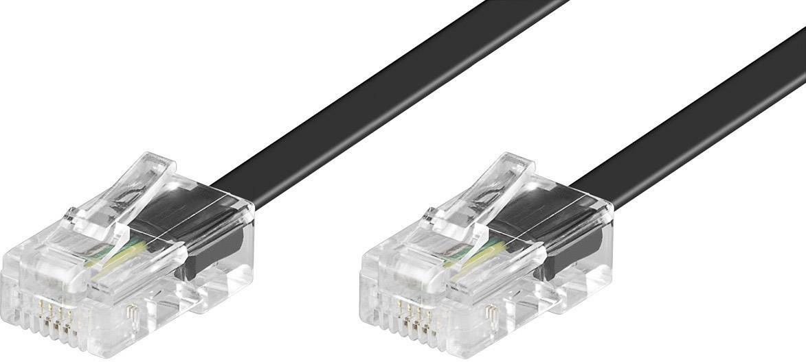 ISDN 4žilová kabelová přípojka Wentronic RJ45, 6 m, černá
