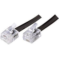 Western kabel Basetech BT-1602081, [1x RJ12 zástrčka 6p6c - 1x RJ12 zástrčka 6p6c], 3 m, černá