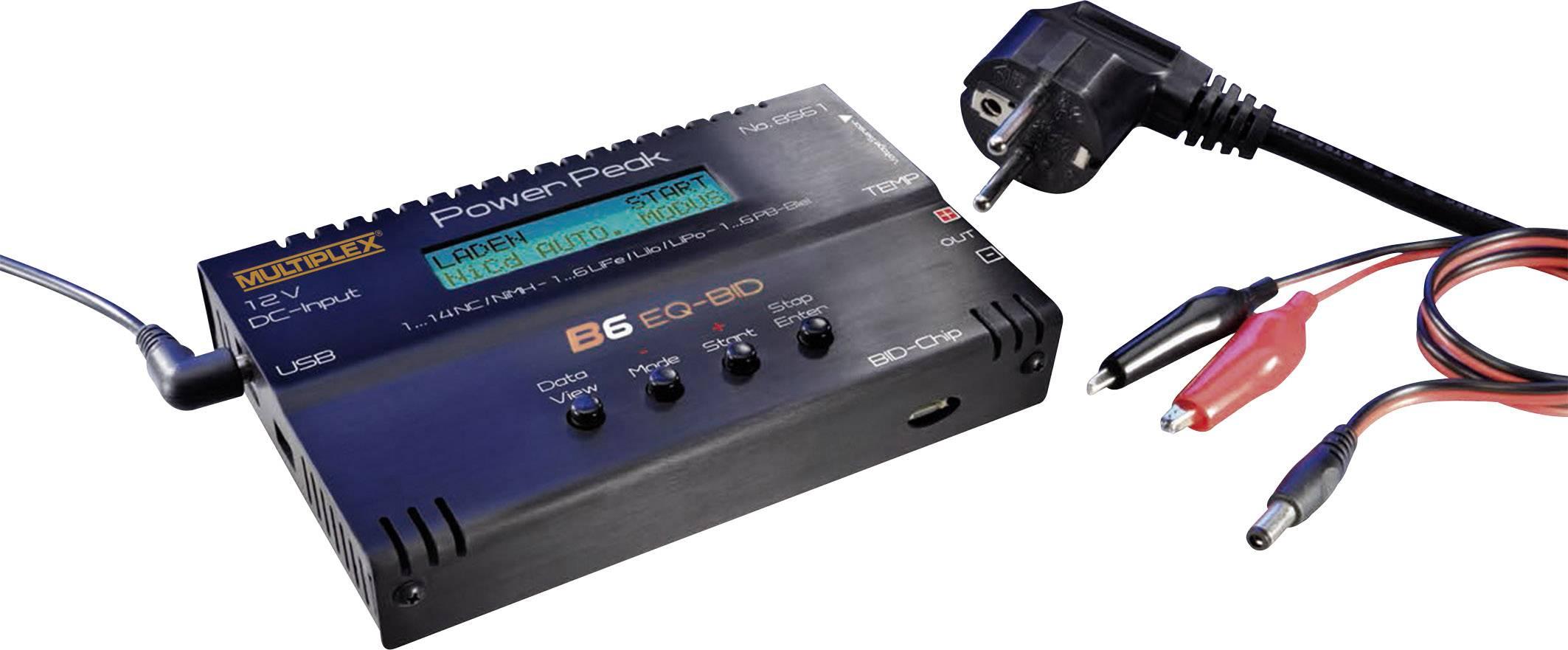 Modelárska multifunkčná nabíjačka Power Peak B6 EQ-BID 308561, 12 V, 220 V, 5 A