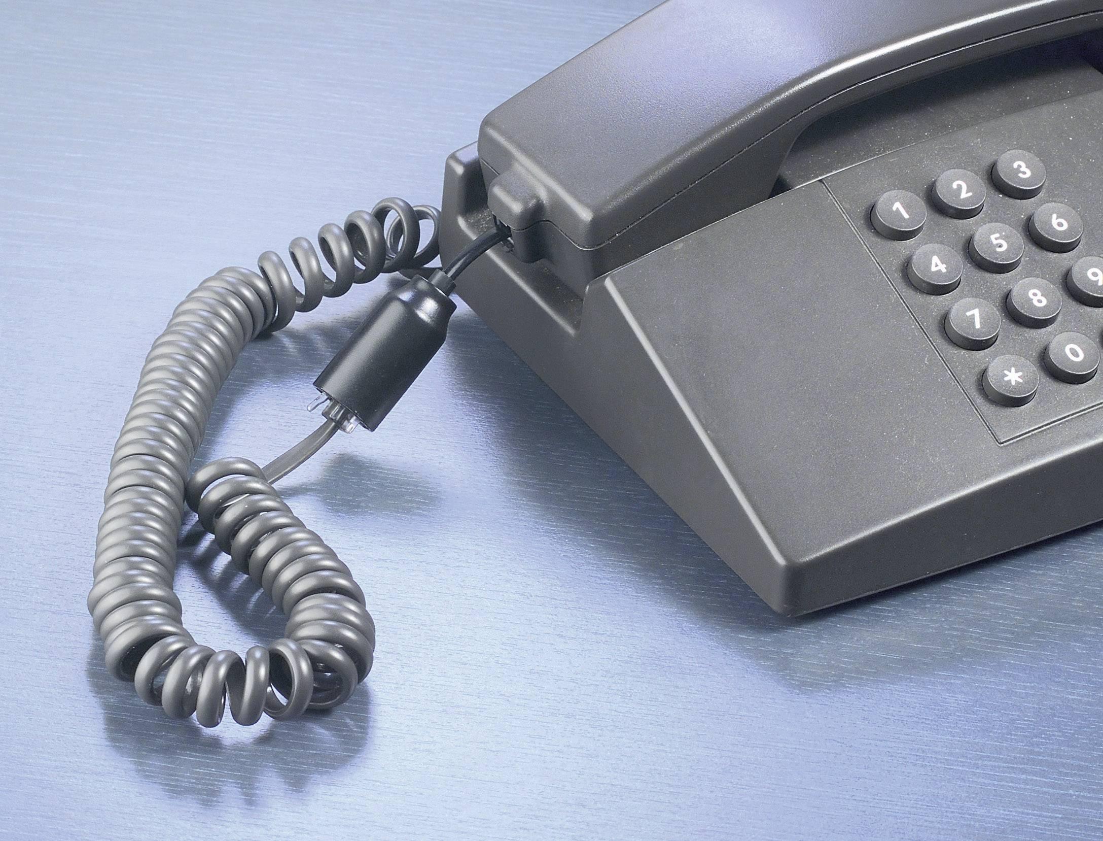 Zamezovač uzlů na telefonních kabelech