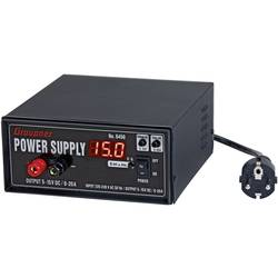 Síťový regulovatelný zdroj pro modeláře Graupner Power Supply 6459, 230 V/AC, 20 A