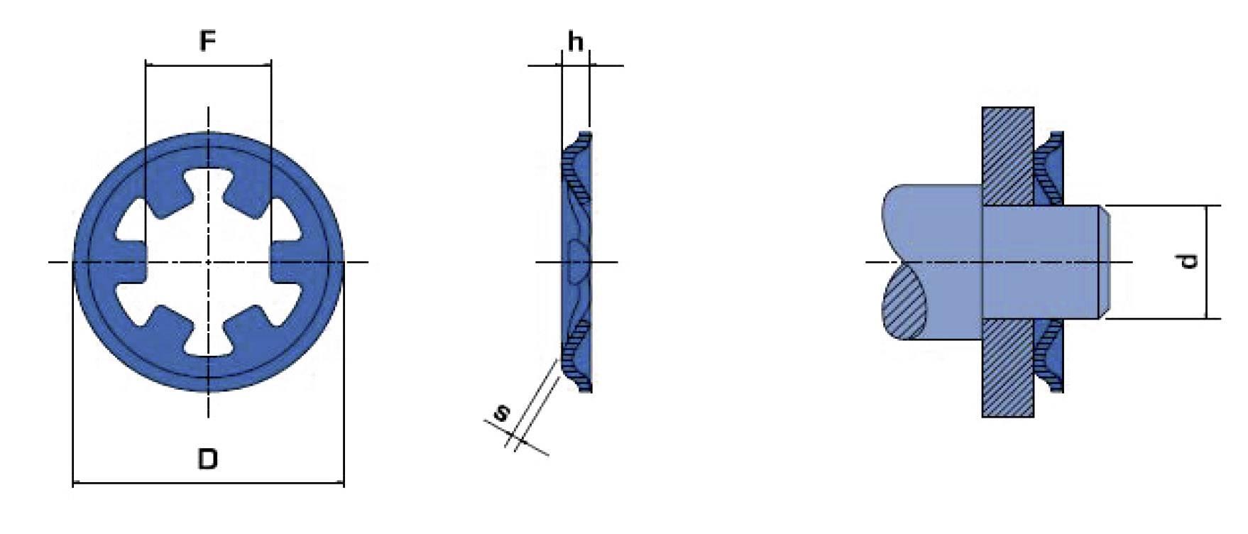 Pojistná podložka 10 mm, 20 ks