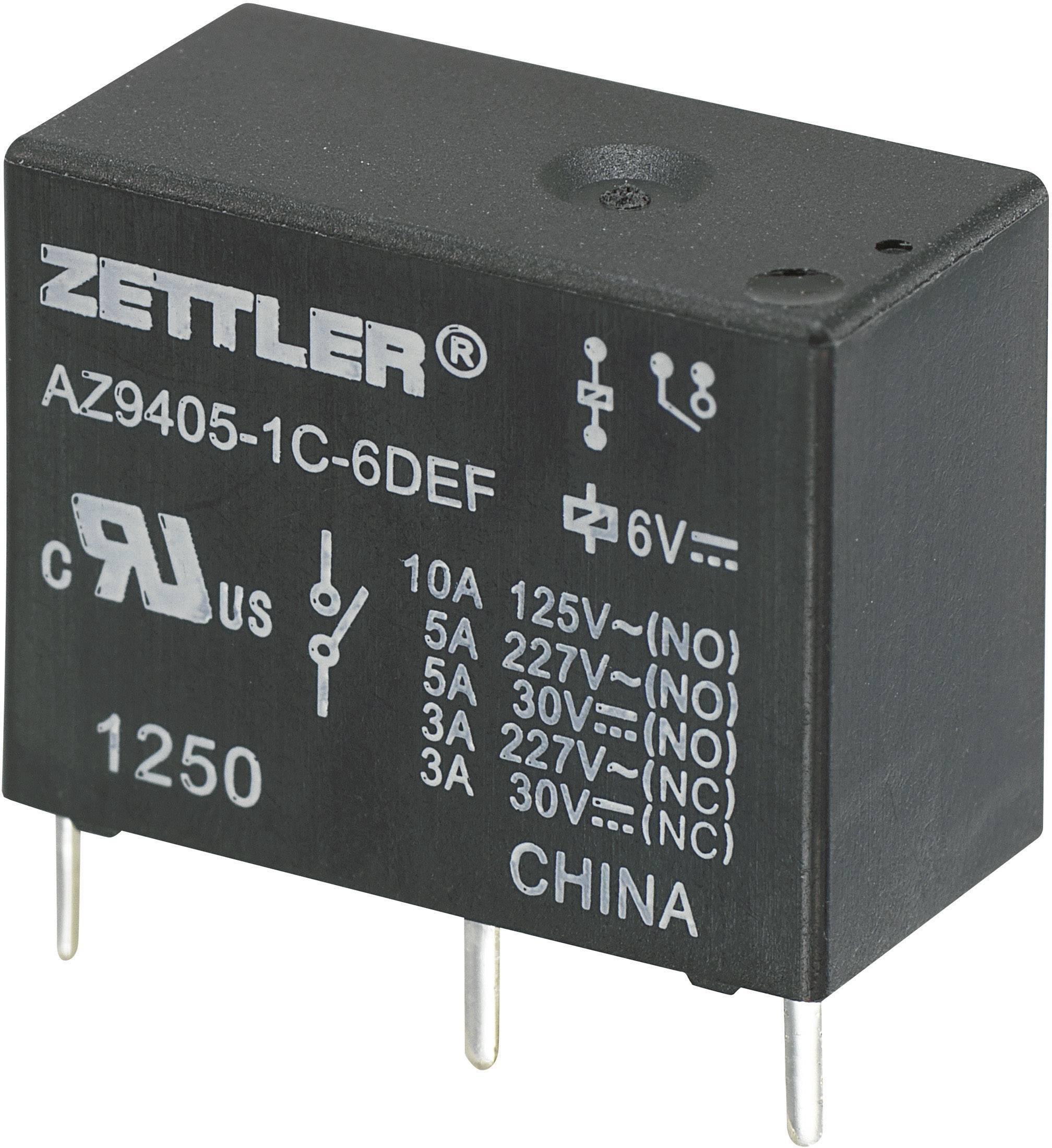 Relé do DPS Zettler Electronics 24 V/DC, 10 A, 1 prepínací, 1 ks