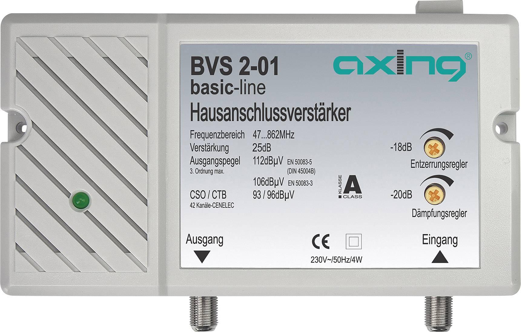 Anténní zesilovač Axing BVS 2-01, 25 dB