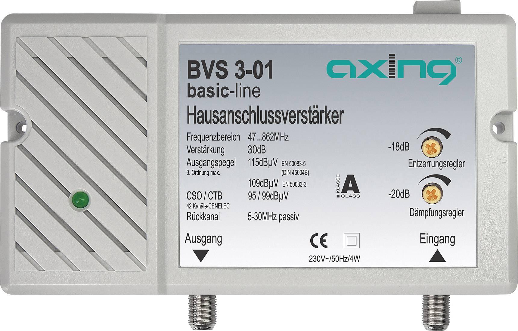 Anténní zesilovač Axing BVS 3-01, 30 dB