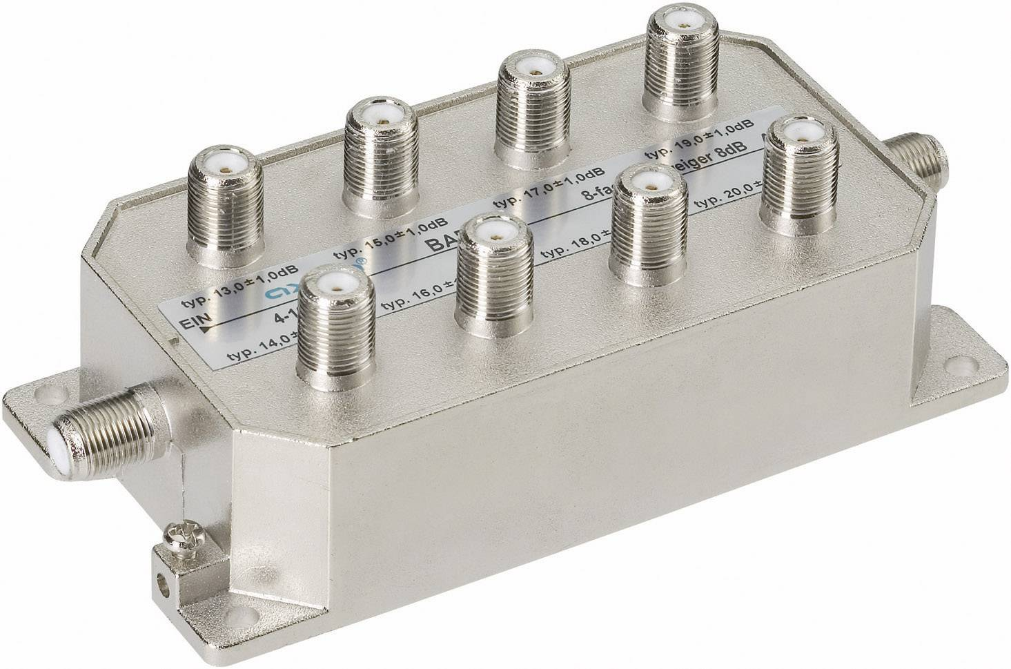 Odbočovač pro kabelovou TV Axing BAB 8-01, BAB00801, 8násobný