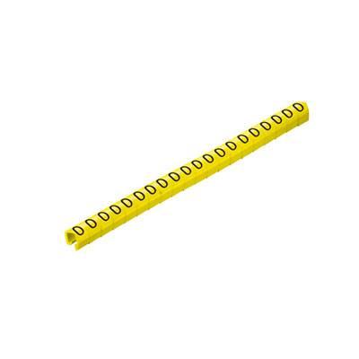 Označovací klip na kabely Weidmüller CLI O 20-3 GE/SW 1 MP 0648101505, žlutá, 200 ks