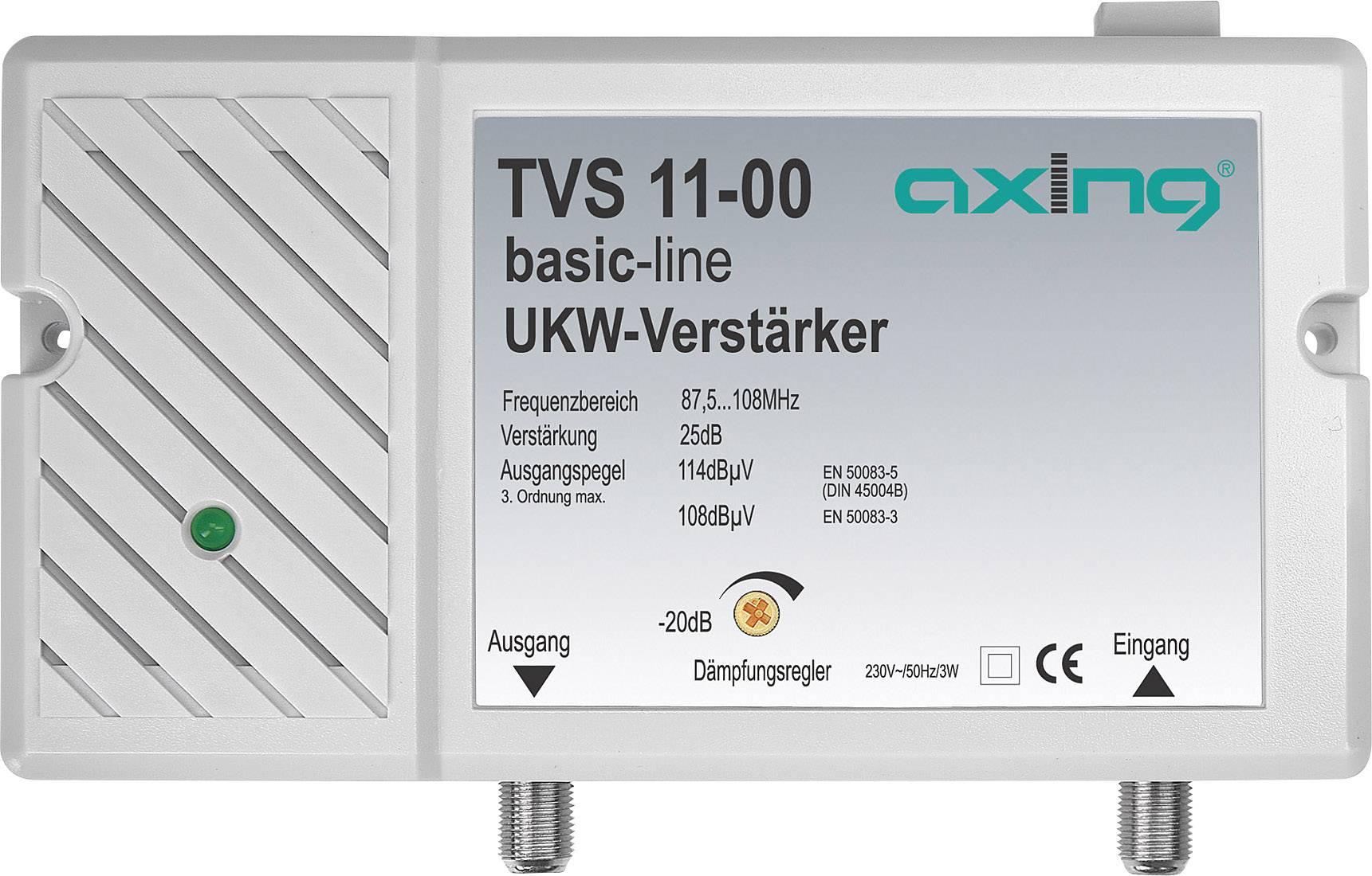 Širokopásmový anténny zosilňovač Axing TVS 11, 30 dB